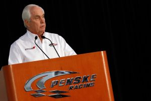 Team owner Roger Penske speaks to the media, during the NASCAR Sprint Media Tour hosted by Charlotte Motor Speedway, held at Penske Racing on Monday in Mooresville, N.C. - Photo Credit: Jason Smith/Getty Images for NASCAR