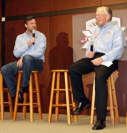 2011 Tony Stewart with Joe Gibbs - Photo Credit: Harold Hinson Photography (HHP) for Charlotte Motor Speedway