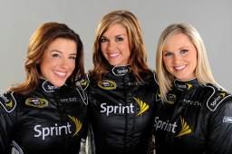 Miss Sprint Cup Lineup: (L-R)-Monica Palumbo, Paige Duke, Kim Coon